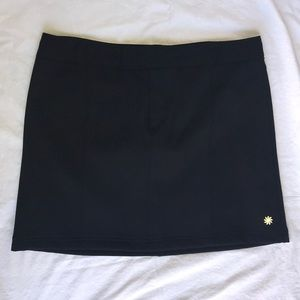 Athleta solid black Fleece Linen Skirt size 16